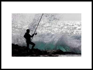 Buy this art print titled Fishing With Style by the artist Jorge Feteira