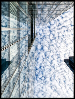 Art print titled Fleecy Clouds by the artist Gerard Jonkman