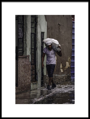 Art print titled Flooding Havana by the artist Andreas Bauer
