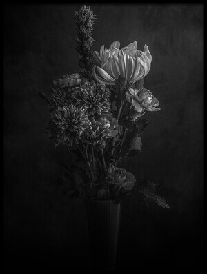 Art print titled Flowers In the Dark by the artist Nobuhiro Ishida