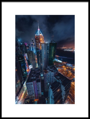 Art print titled Flying Hong Kong by the artist Javier de la Torre