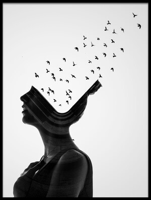 Buy this art print titled Flying Mind by the artist erkin demir
