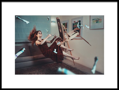 Art print titled Flying Painter by the artist Evgeny Loza