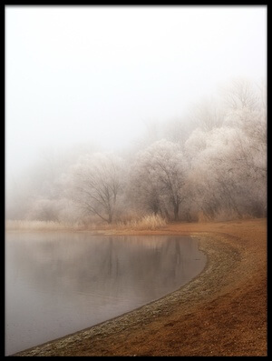 Art print titled Fog and Rime On the Lake by the artist Hans Peter Rank