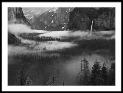 Buy this art print titled Fog Floating In Yosemite Valley by the artist Hong Zeng