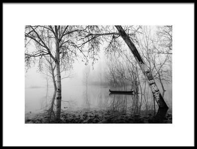 Art print titled Fog In the Marsh by the artist Matteo Chiarello