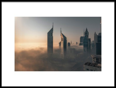 Art print titled Fog Lockdown On the City of Steel by the artist Stan Huang