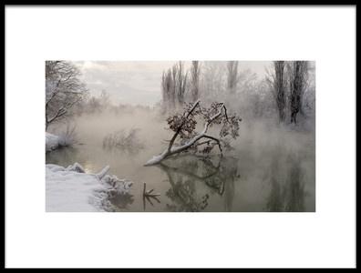 Art print titled Fog Over the Water by the artist Alexander Plekhanov