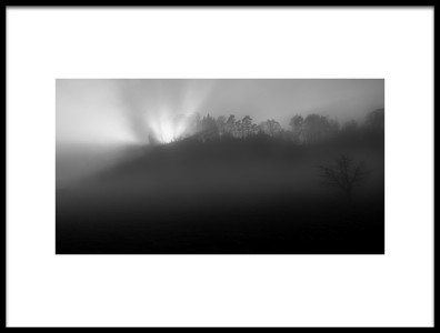 Art print titled Foggy and Sunny Weather by the artist Nic Keller