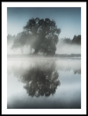 Art print titled Foggy Day by the artist Ulrike Eisenmann