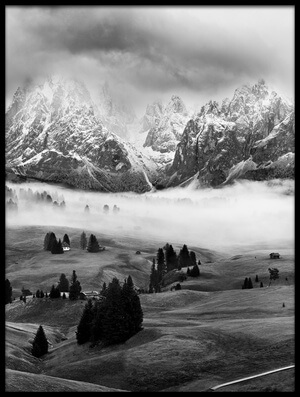 Buy this art print titled Foggy Dolomites by the artist Marian Kuric