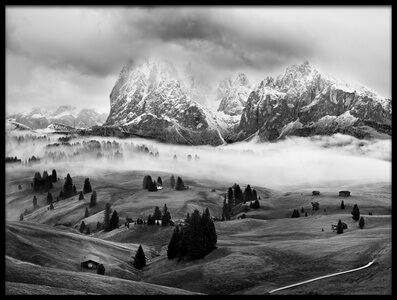 Buy this art print titled Foggy Dolomites II by the artist Marian Kuric