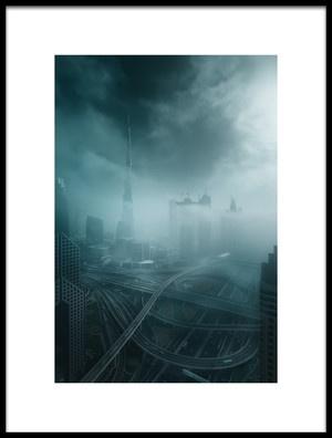Buy this art print titled Foggy Dubai by the artist Javier de la Torre