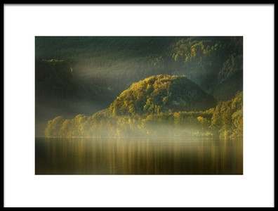 Art print titled Foggy Lake by the artist Patrick Aurednik