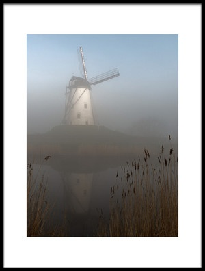 Buy this art print titled Foggy Morning by the artist Elisabeth Wehrmann