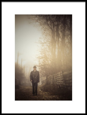 Buy this art print titled Foggy Walk by the artist Sebastiæn