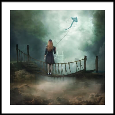 Art print titled Follow Your Dream  by the artist Natalia Simongulashvili   ( NATALIORION )