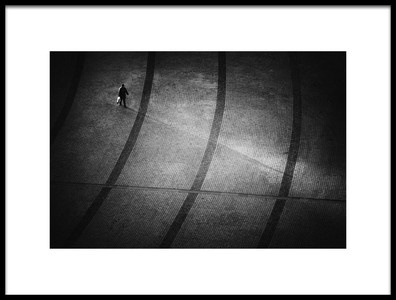 Art print titled Following My Shadow by the artist Sebastiæn