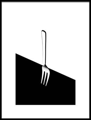 Art print titled Fork by the artist Naoki Matsumura