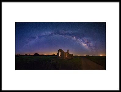 Art print titled Fort Griffin Under the Night Sky by the artist Michael Zheng