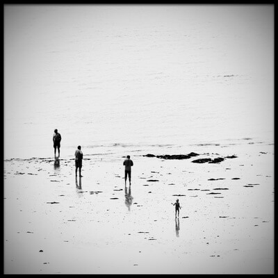 Buy this art print titled Four On the Beach by the artist George Digalakis