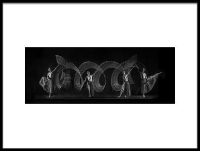 Art print titled Four Steps Dance by the artist Antonyus Bunjamin (Abe)