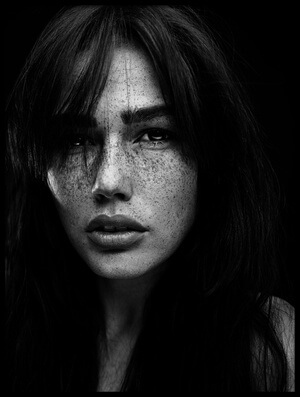 Buy this art print titled Freckles Romi by the artist Martin Krystynek QEP