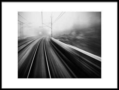 Art print titled From the Last Wagon of the Train by the artist Mats Persson