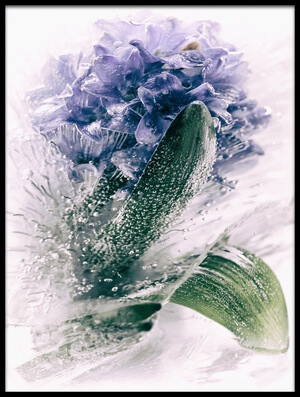 Art print titled Frozen Blue by the artist margit lisa roeder