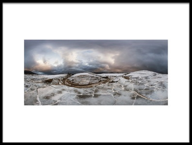 Art print titled Frozen Cerknica Lake by the artist Martin Cekada