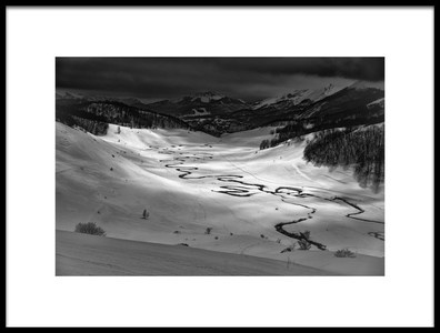Buy this art print titled Frozen Creek by the artist Bez Dan