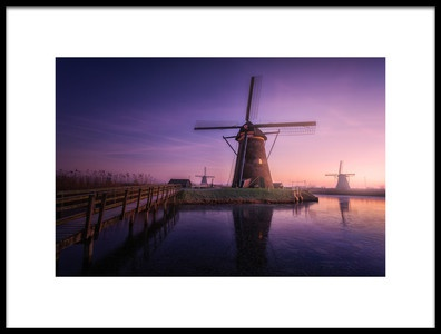Buy this art print titled Frozen Kinderdijk by the artist Clara Gamito