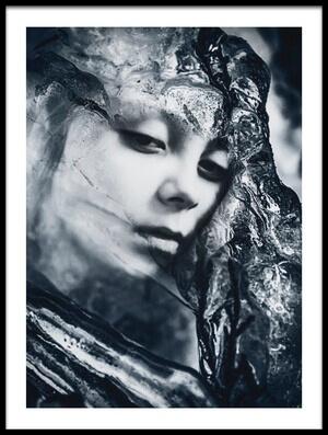 Art print titled Frozen Mind by the artist Desislava Ignatova