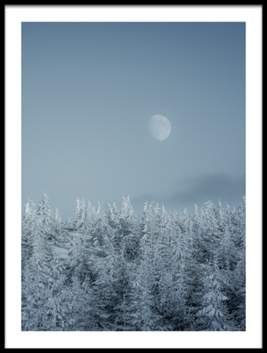 Buy this art print titled Frozen Moon by the artist Daniel Mîrlea