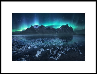 Art print titled Frozen World, the Crown by the artist Carlos F. Turienzo