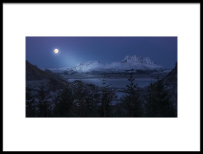 Art print titled Full Moon by the artist David Martín Castán