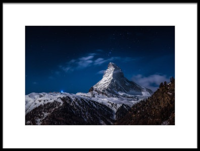 Art print titled Full Moon at Matterhorn by the artist Jesús González