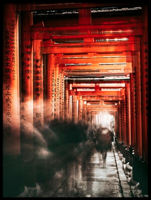 Buy this art print titled Fushimi Inari Shrine by the artist Carmine Chiriacò