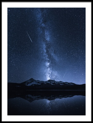 Buy this art print titled Galaxies Reflection by the artist Toby Harriman
