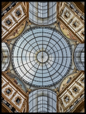 Art print titled Galleria Vittorio Emanuele II by the artist Renate Reichert