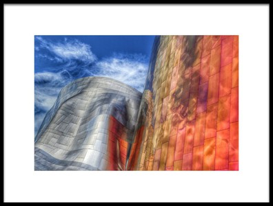Art print titled Gehry Architecture, Seattle, Washington USA by the artist Randall Osterhuber