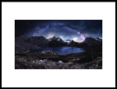 Art print titled Gem In Between the Mountains by the artist Selions