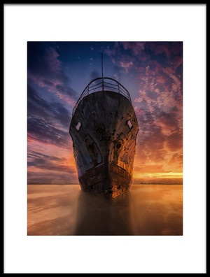 Art print titled Ghost Ship by the artist miwafajri