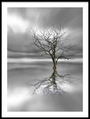 Art print titled Ghost Tree by the artist Leif Løndal