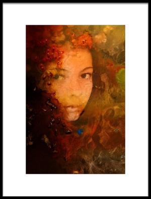 Art print titled Girl 12 by the artist Bernard Scribante