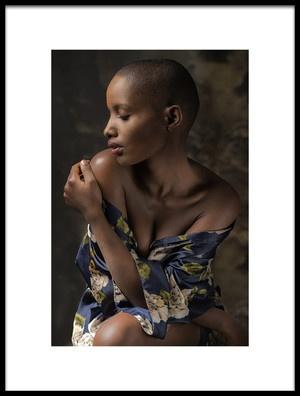 Art print titled Girl from Rwanda by the artist Jan Slotboom