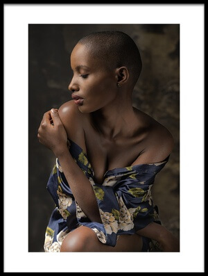 Buy this art print titled Girl from Rwanda by the artist Jan Slotboom