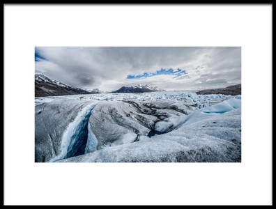 Art print titled Glaciar by the artist Claudio Spinelli