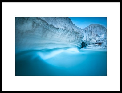 Art print titled Glacier River Cave by the artist FEI SHI