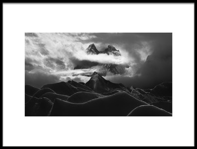 Art print titled Glacier Tower by the artist FEI SHI